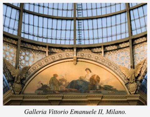 peinture-galleria-vittorio-emanuele-ii-milano-italia